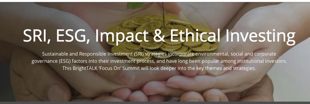 ESG webinar Brightalk